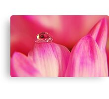 PINK Collection for the Cure - Her tears Canvas Print
