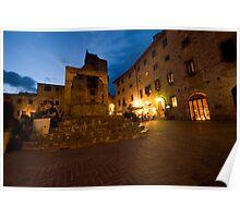 San Giminignano Italy at night #1 Poster