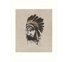 Lion Headdress Art Print