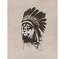 Lion Headdress Photographic Print