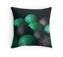 Christmas Baubles II- www.lizgarnett.com Throw Pillow