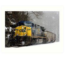 Snow Storm CSX Art Print