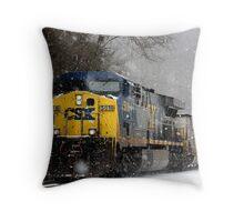 Snow Storm CSX Throw Pillow