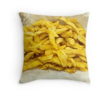 Chips Served in Paper Throw Pillow