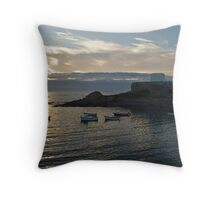 Sunset at Fort Grey Throw Pillow