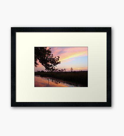 BANNERS OF LEMON LIGHT - SUNSET ON ECONFINA CREEK Framed Print