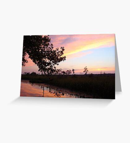 BANNERS OF LEMON LIGHT - SUNSET ON ECONFINA CREEK Greeting Card