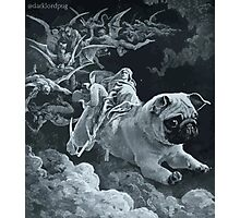 Death Rides a Pale Pug Photographic Print