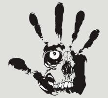 Skull hand by sharky2