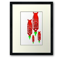 sriracha bomb graphic Framed Print