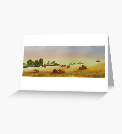 Hillside Bales Greeting Card