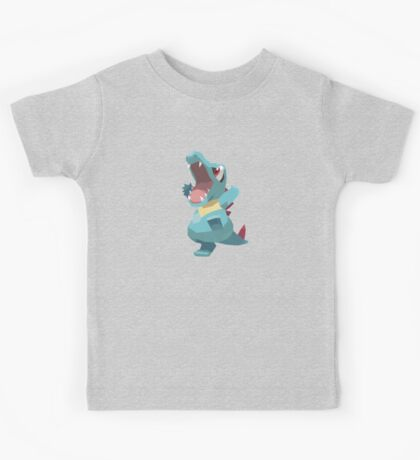 Totodile Low Poly Kids Tee
