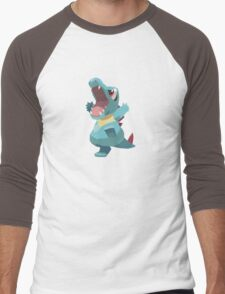 Totodile Low Poly Men's Baseball ¾ T-Shirt