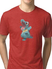 Totodile Low Poly Tri-blend T-Shirt