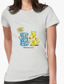 bits-a-cat prime dog food Womens Fitted T-Shirt