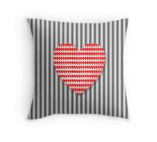 Unstable Heart Throw Pillow