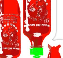 sriracha bomb graphic Sticker