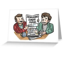 sunday papers Greeting Card