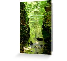 green hourglass Greeting Card