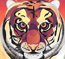 Digital Tiger Illustration by FUNCTIONALFOX