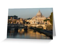 St Peter's Morning Glow - Impressions Of Rome Greeting Card