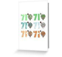 Disney - Polynesian Resort 71 Grid V.01 Greeting Card