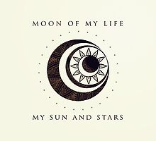 Moon of my life... My Sun and stars by rosescreation