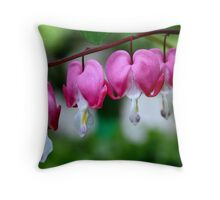 Lovely hearts Throw Pillow