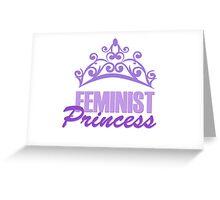 Feminist Purple Princess Greeting Card