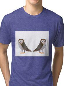 Owl Illustration Art Print Birds Tri-blend T-Shirt