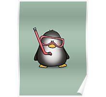 Snorkelling Penguin Poster