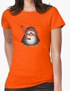Snorkelling Penguin Womens Fitted T-Shirt