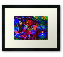 African Knight Framed Print