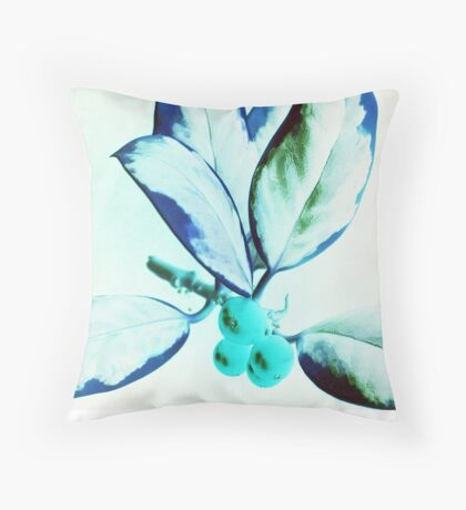 Christmas Holly II - www.lizgarnett.com Throw Pillow