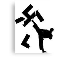 stop kick racism Canvas Print