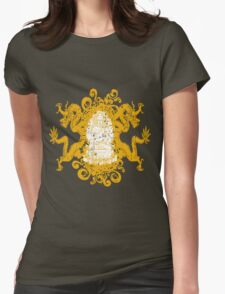 Buddha with Dragons Womens Fitted T-Shirt