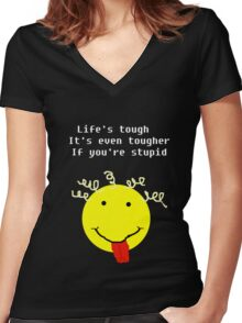 Lifes Tough Women's Fitted V-Neck T-Shirt