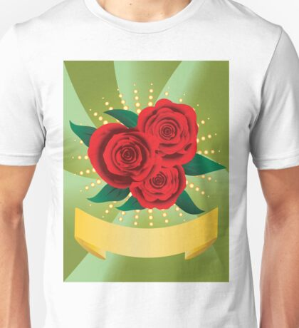 Card with red roses Unisex T-Shirt