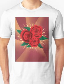 Card with red roses 2 T-Shirt