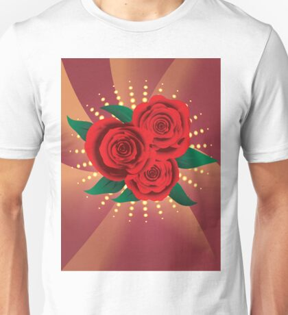 Card with red roses 2 Unisex T-Shirt