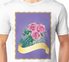Card with pink roses 2 Unisex T-Shirt