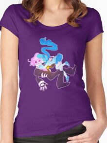 Mystery Skulls Ghost - Lewis and Vivi Women's Fitted Scoop T-Shirt