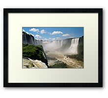 Looking into the Devil's Throat Framed Print