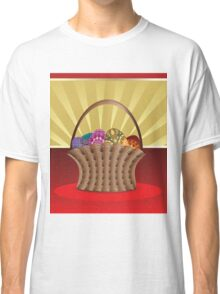 Easter card with eggs Classic T-Shirt