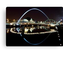 NewcastleGateshead Quayside By Night Canvas Print