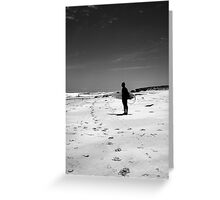 Loney surfer Greeting Card