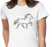 Iceland horse Womens Fitted T-Shirt