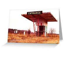 Colonial Drive In Theatre - Ticket Booth and Screen Greeting Card