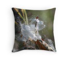 Milkweed 5 Throw Pillow