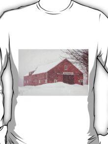 Winter Red Barn T-Shirt